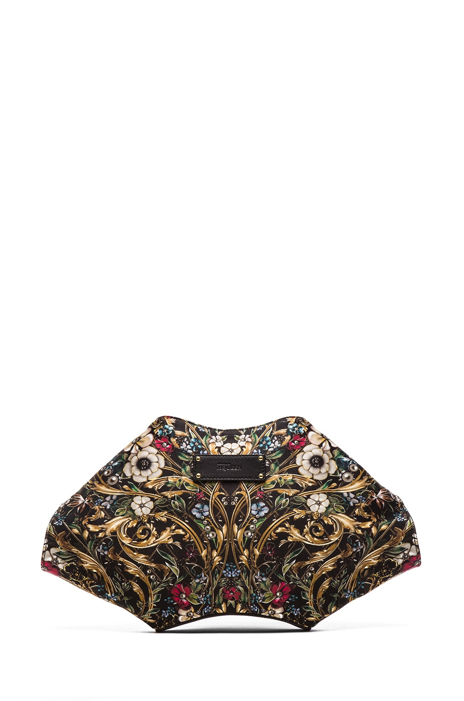 Image 2 of Alexander McQueen De Manta Floral Print Clutch in Black