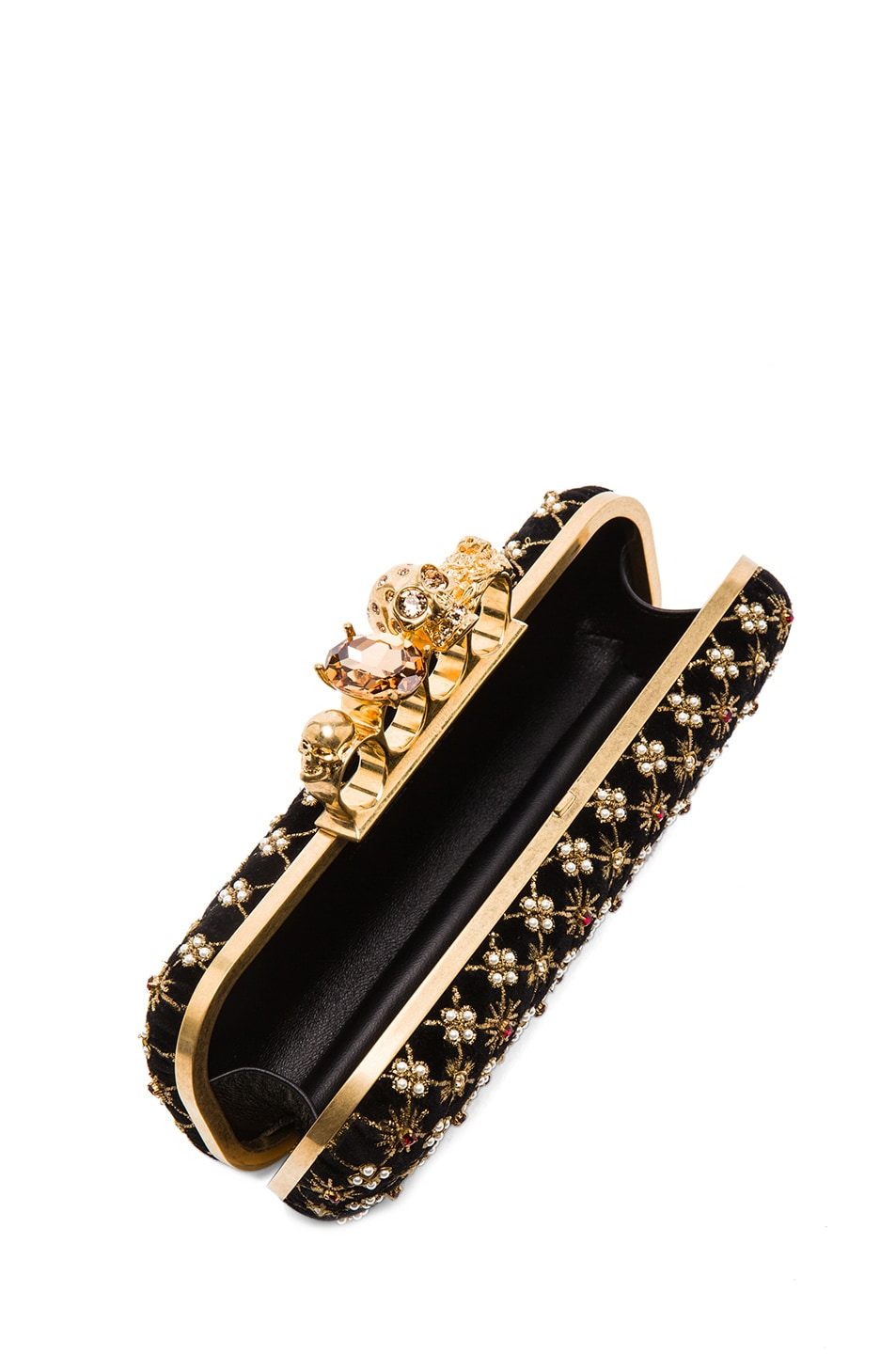 Image 4 of Alexander McQueen Embellished Knuckle Box Clutch in Multi