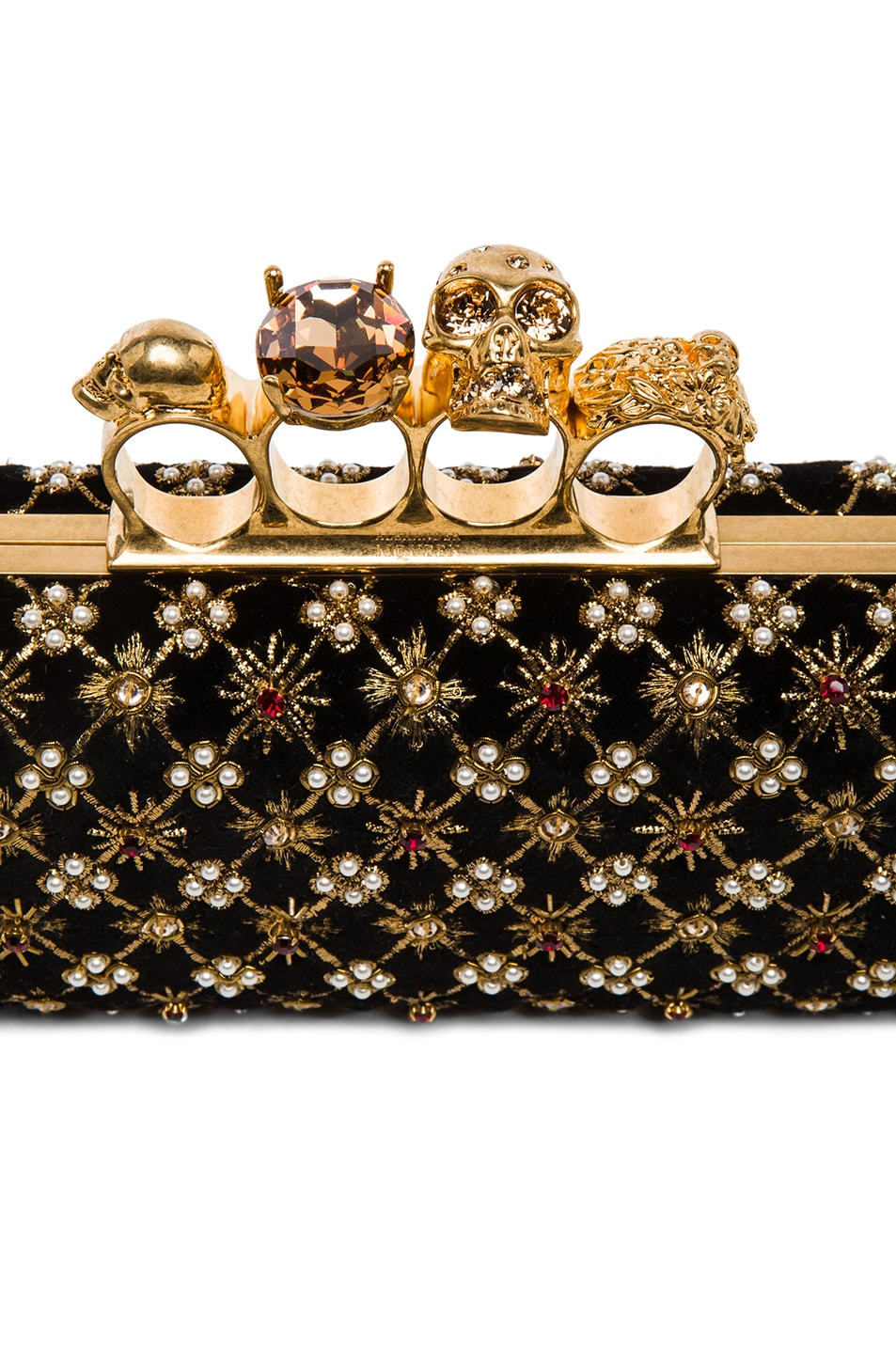 Image 5 of Alexander McQueen Embellished Knuckle Box Clutch in Multi