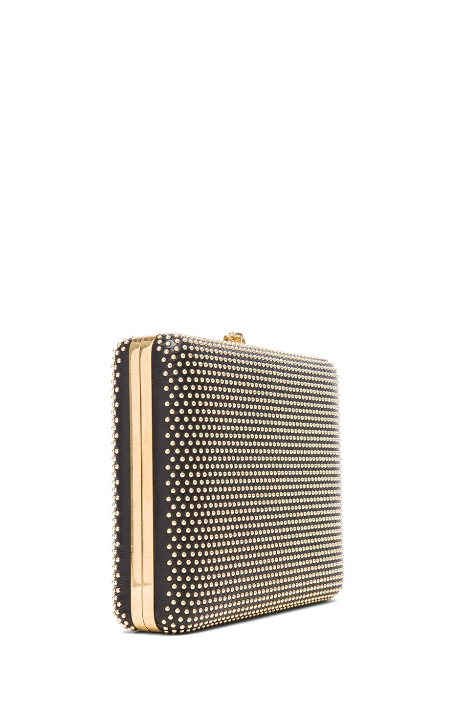 Image 3 of Alexander McQueen Evening Book Clutch With Chain in Black