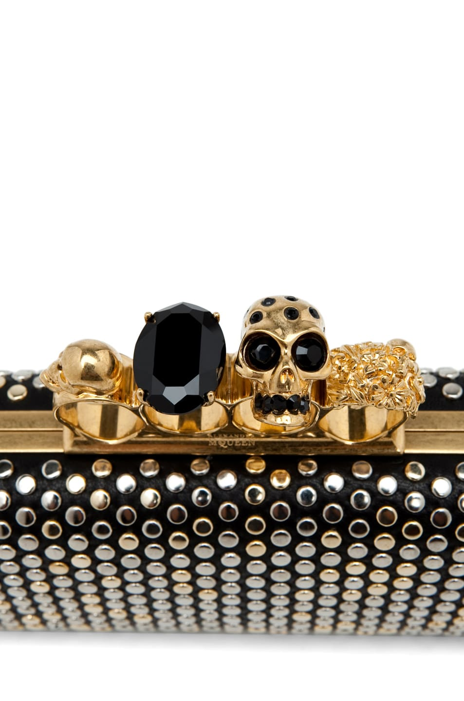 Image 6 of Alexander McQueen Knuckle Box Clutch in Black