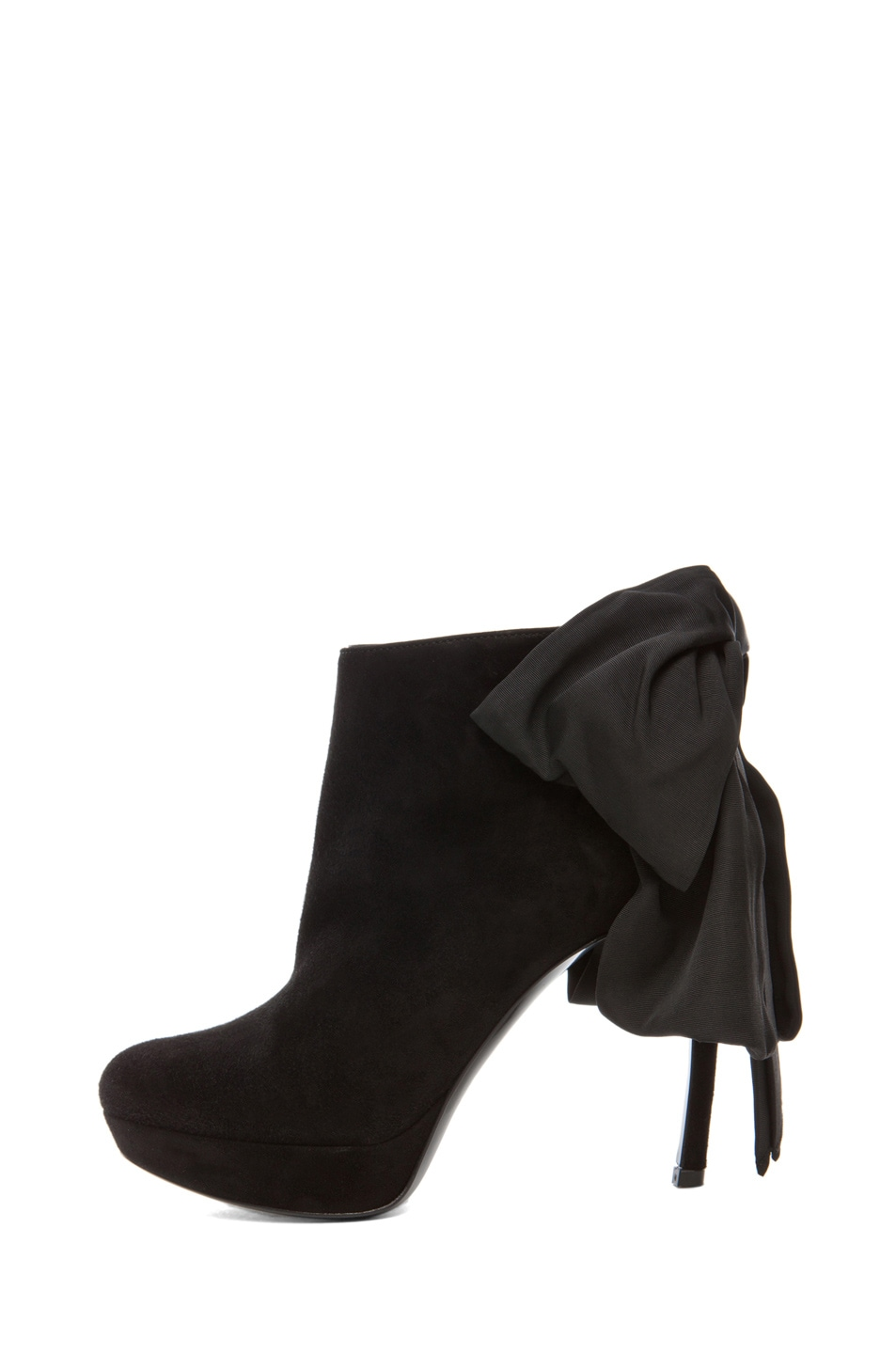 Image 1 of Alexander McQueen Bow Bootie in Black