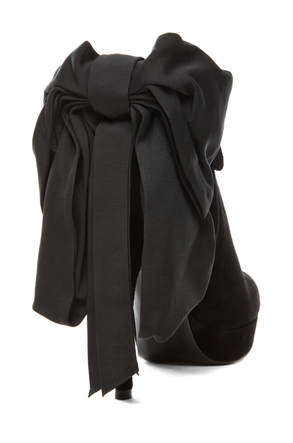 Image 3 of Alexander McQueen Bow Bootie in Black