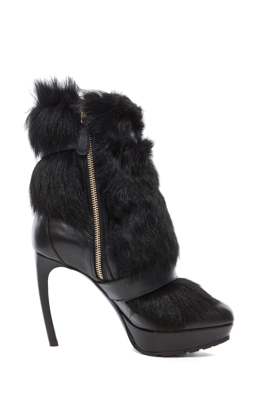 Image 5 of Alexander McQueen Long Hair Heel in Black