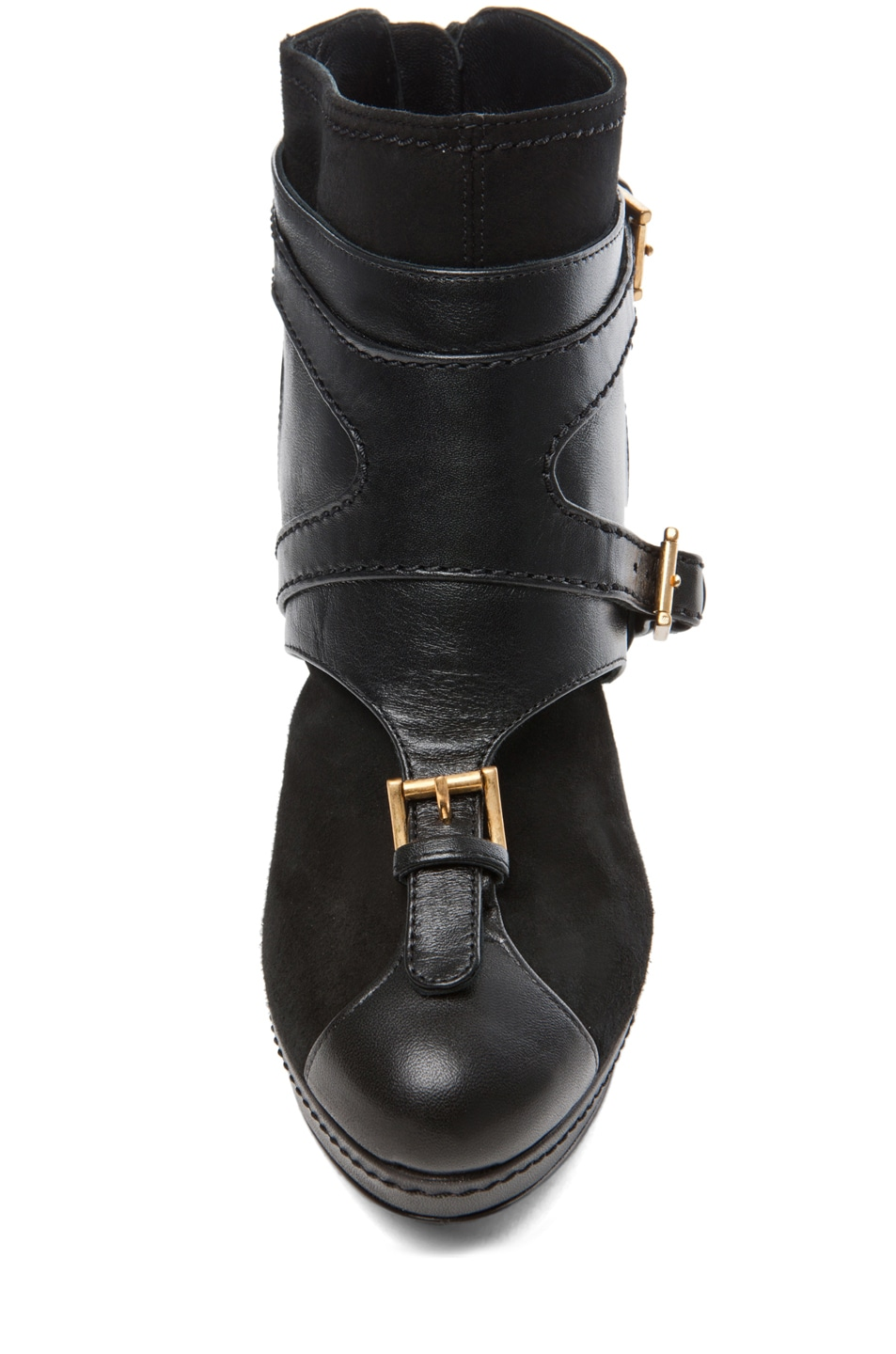 Image 4 of Alexander McQueen Leopold New Suede Bootie in Black