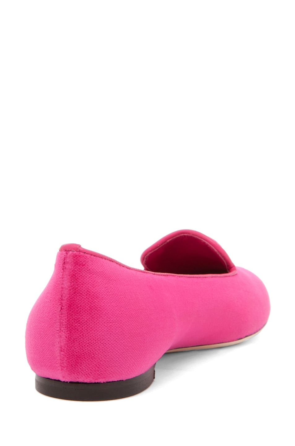 Image 3 of Alexander McQueen Velvet Slipper in Pink