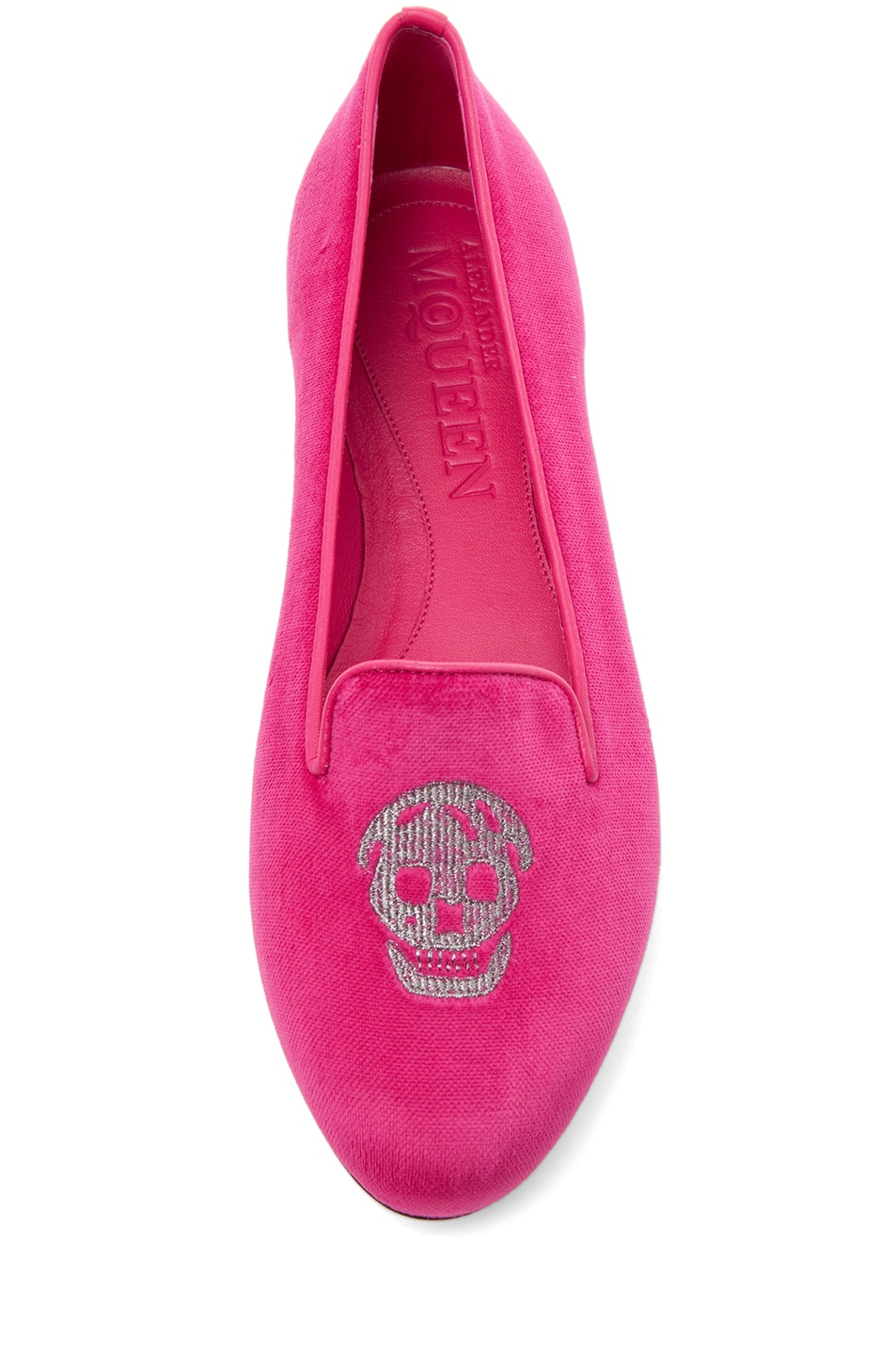 Image 4 of Alexander McQueen Velvet Slipper in Pink