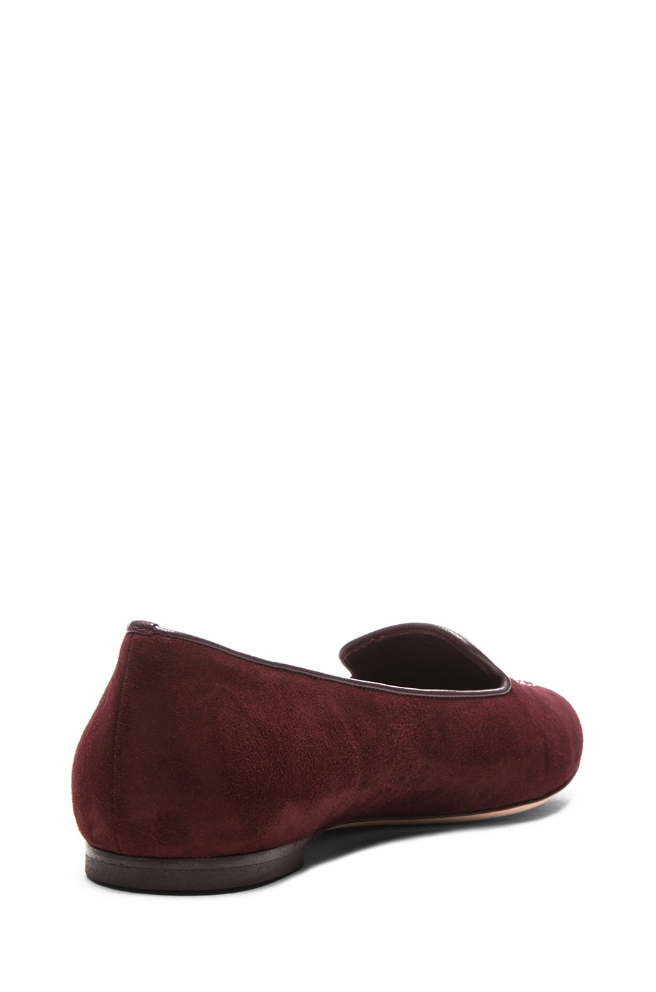 Image 3 of Alexander McQueen Skull Suede Slippers in Oxblood