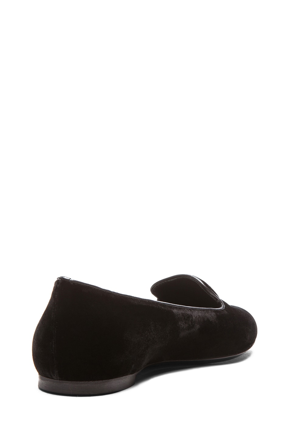 Image 3 of Alexander McQueen Hamlet Skull Velour Slippers in Black