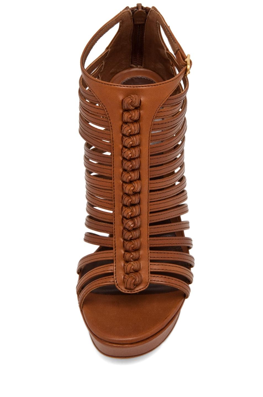 Image 4 of Alexander McQueen Strappy Sandal w/ Bone Heel in Hazelnut