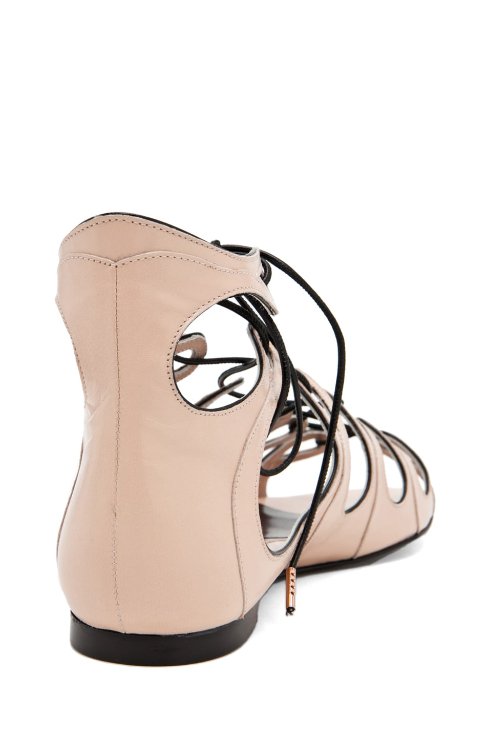 Image 3 of Alexander McQueen Lace Up Sandal in Saraband/Black