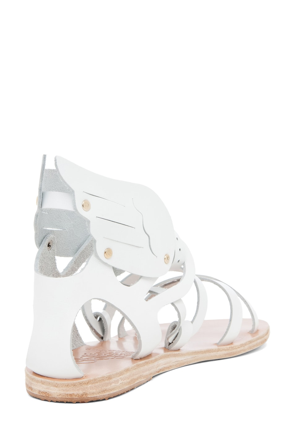 Image 3 of Ancient Greek Sandals Nephele Calfskin Leather Sandals in White