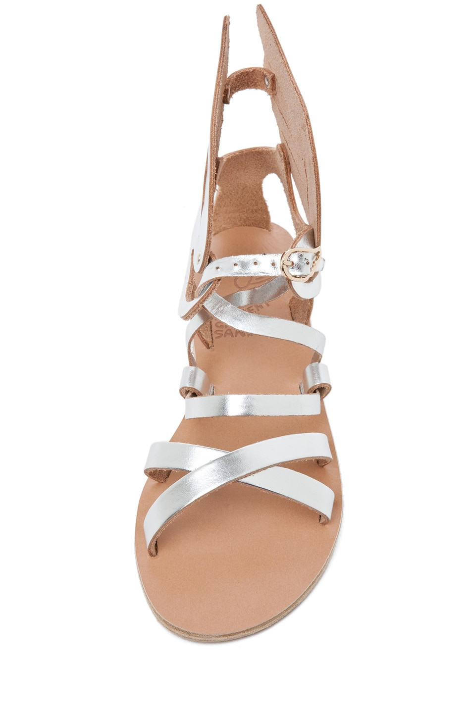 Image 4 of Ancient Greek Sandals Nephele in Silver