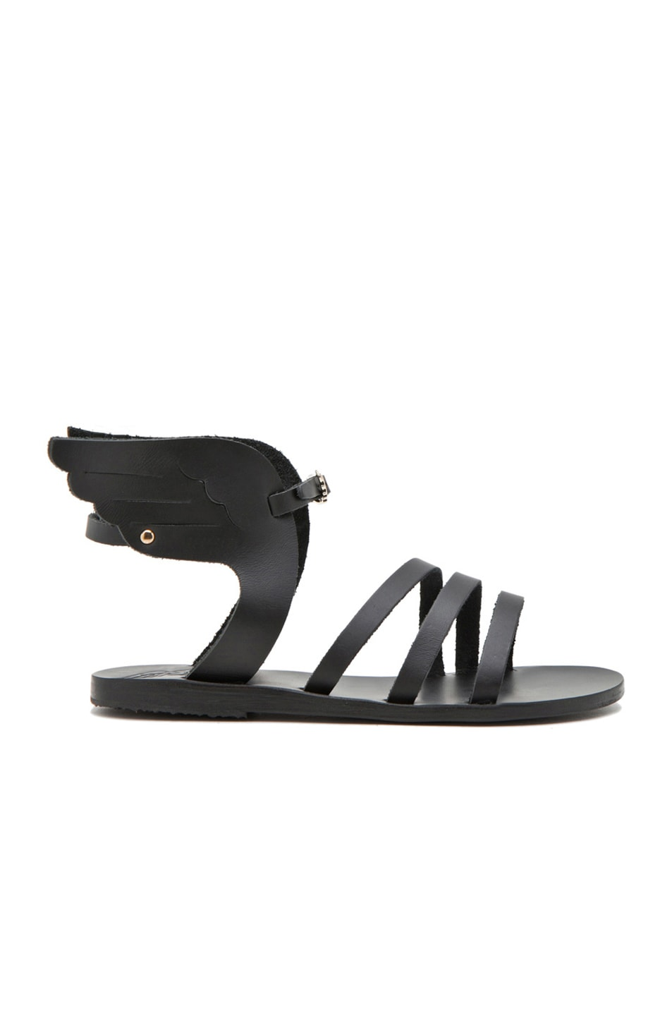 Image 1 of Ancient Greek Sandals Ikaria Calfskin Leather Sandals in Black