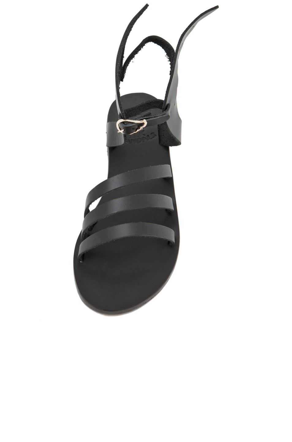 Image 4 of Ancient Greek Sandals Ikaria Calfskin Leather Sandals in Black