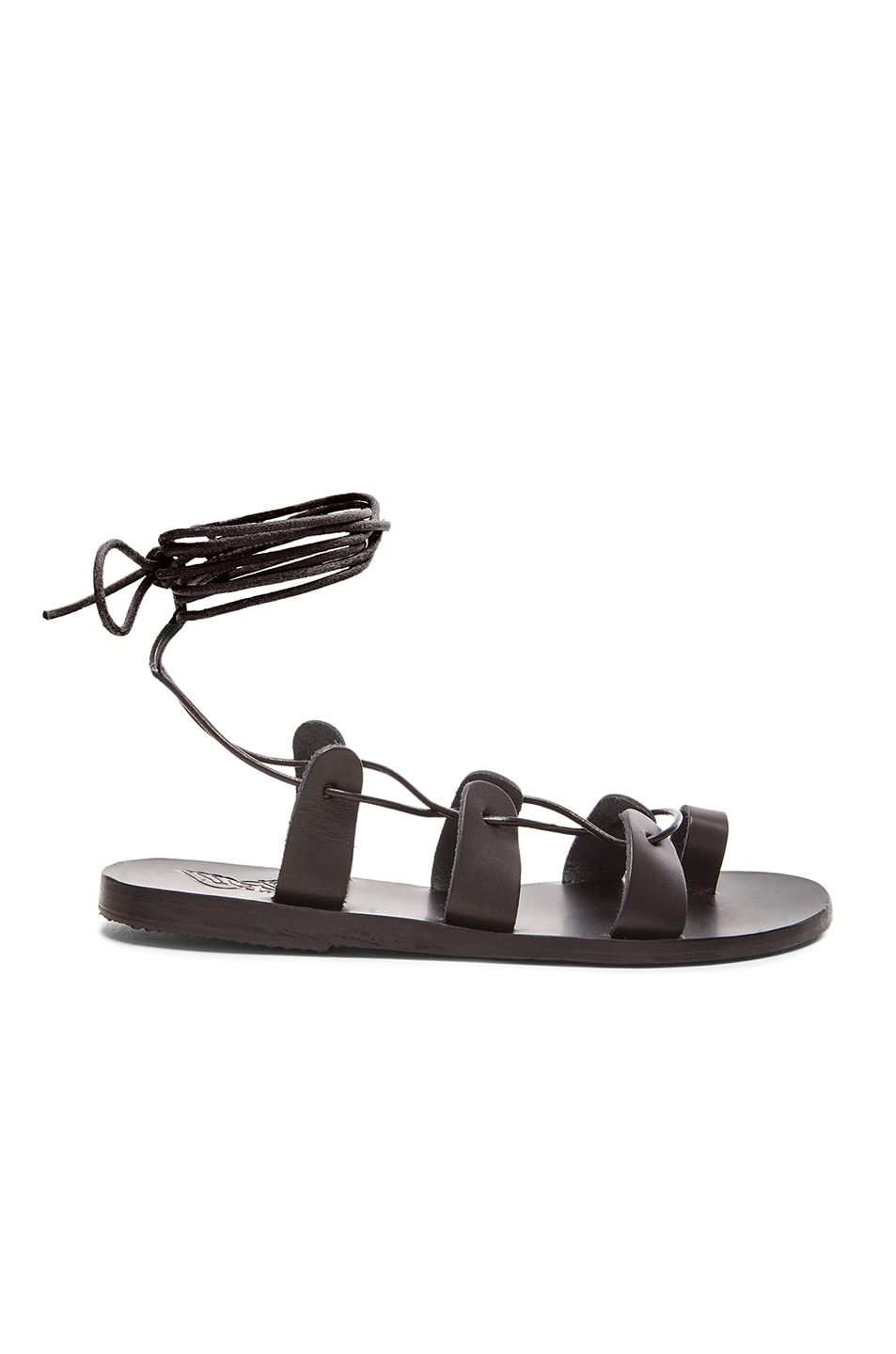 Image 1 of Ancient Greek Sandals Leather Alcyone Sandals in Black