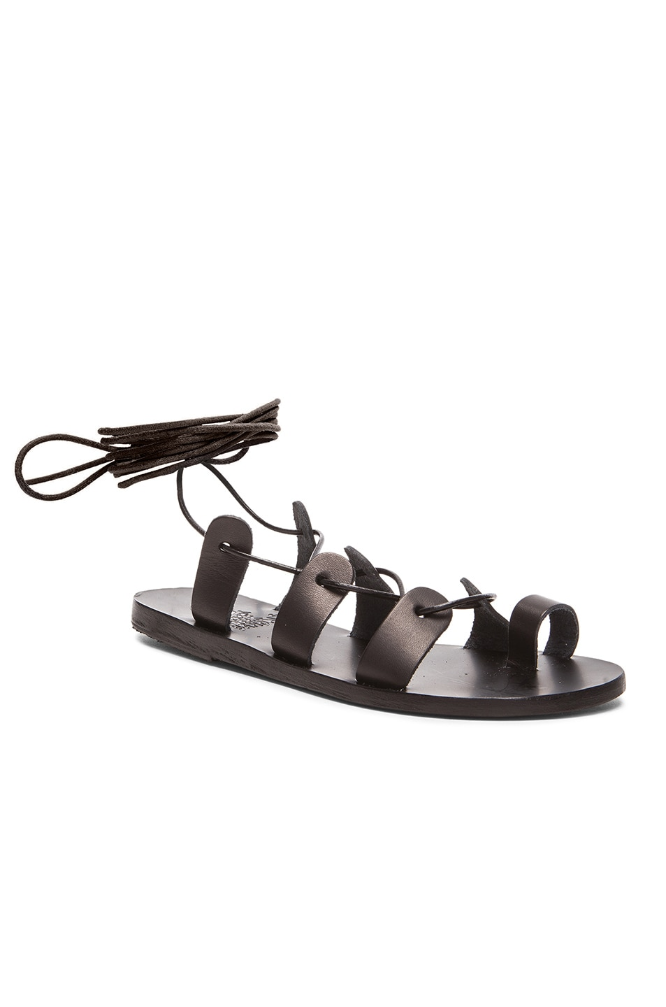 Image 2 of Ancient Greek Sandals Leather Alcyone Sandals in Black