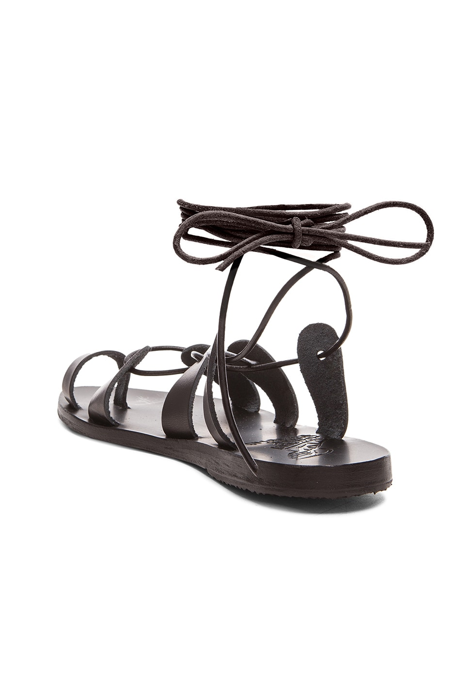 Image 3 of Ancient Greek Sandals Leather Alcyone Sandals in Black