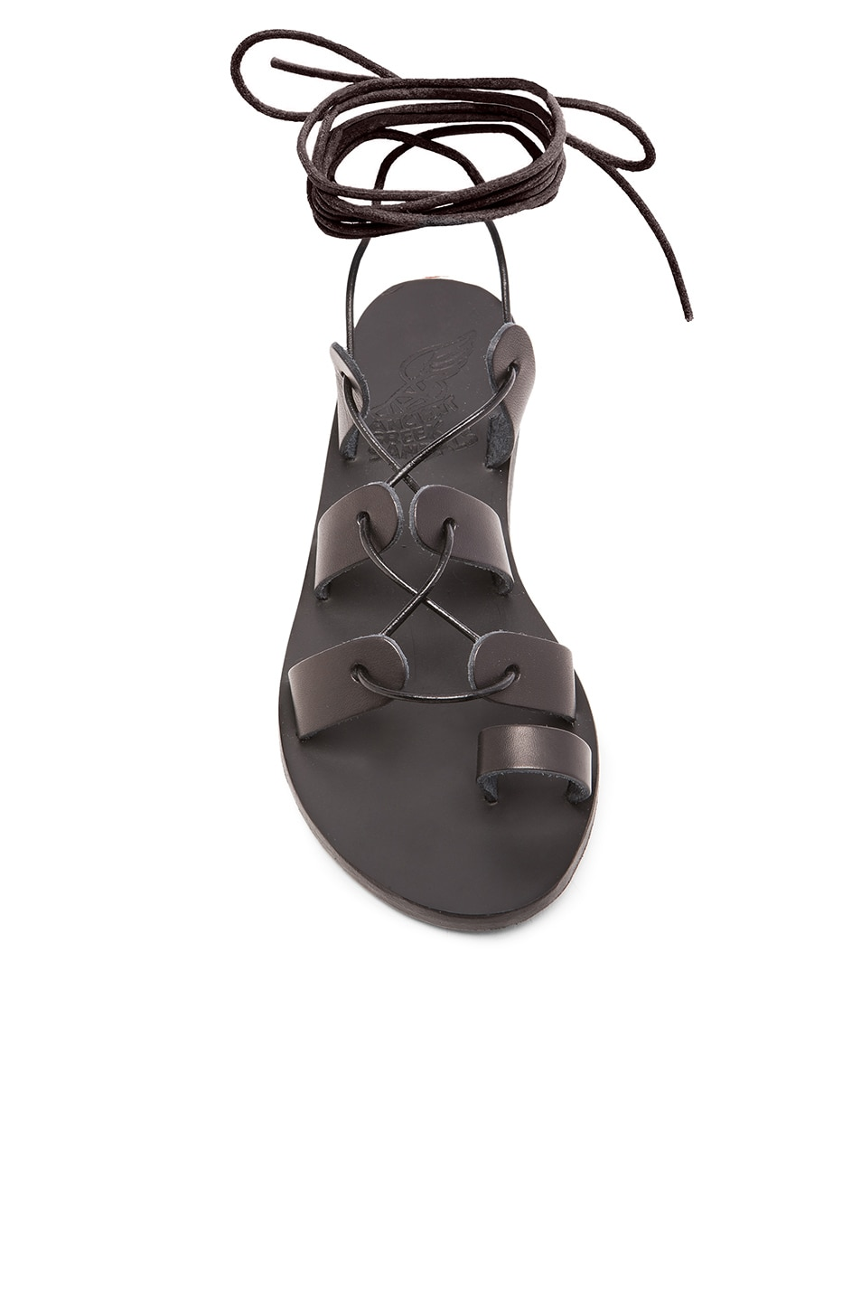 Image 4 of Ancient Greek Sandals Leather Alcyone Sandals in Black