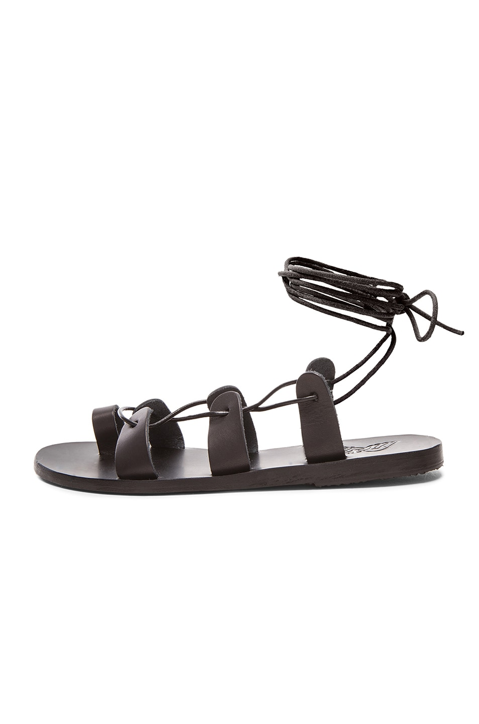 Image 5 of Ancient Greek Sandals Leather Alcyone Sandals in Black