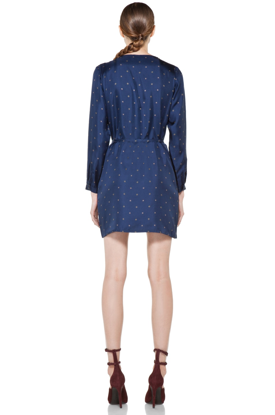 Image 4 of A.P.C. Twill de Soire Imprime Dress in Marine