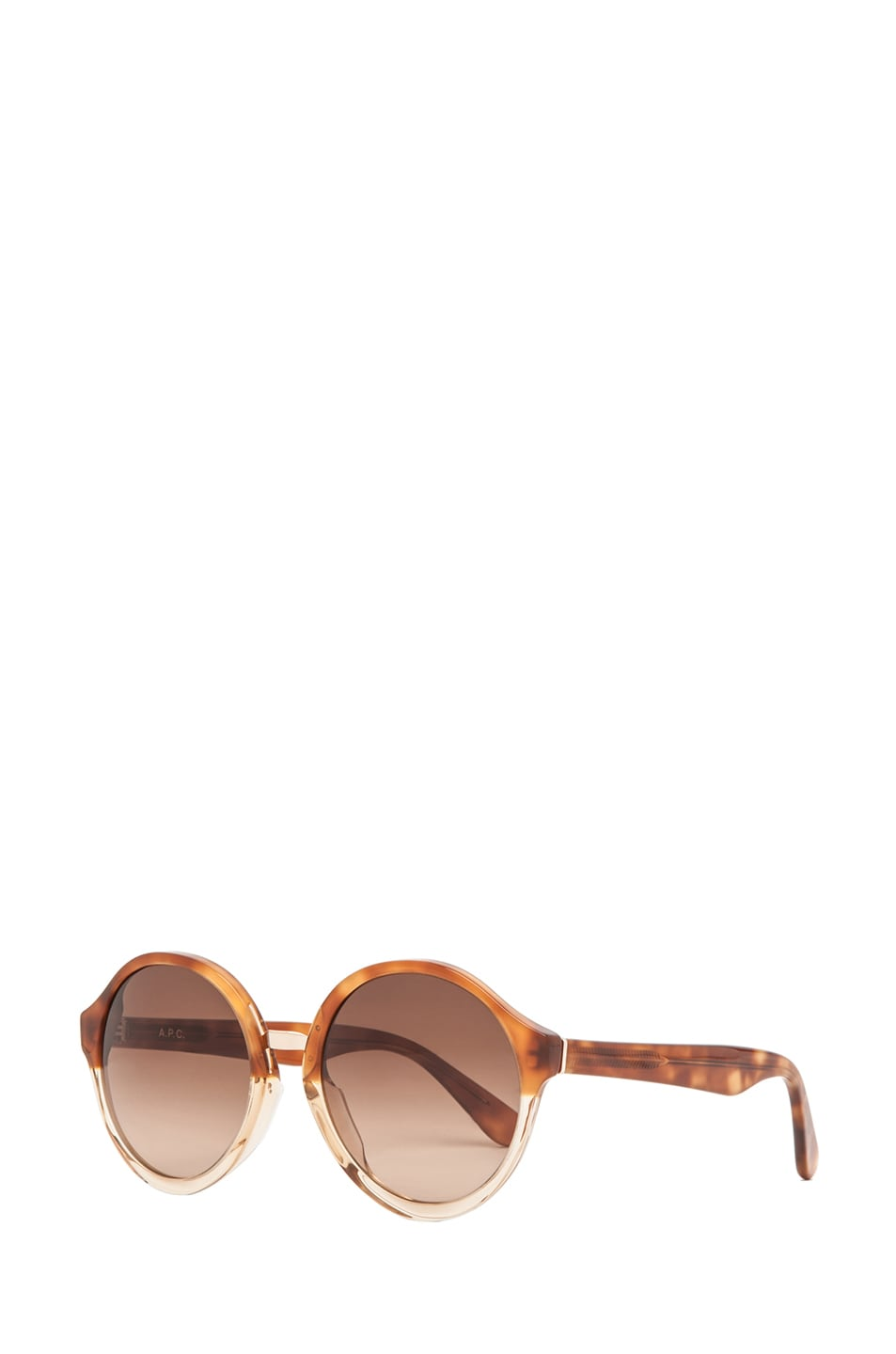 Image 2 of A.P.C. Acetate Retro Super Future Sunglasses in Caramel