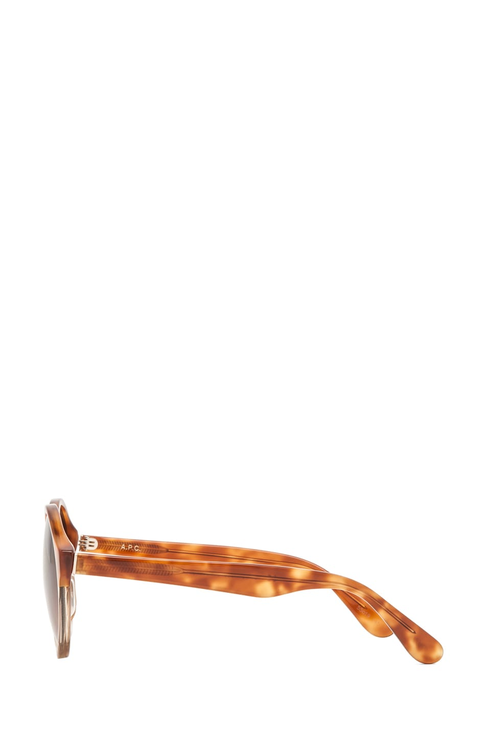 Image 3 of A.P.C. Acetate Retro Super Future Sunglasses in Caramel