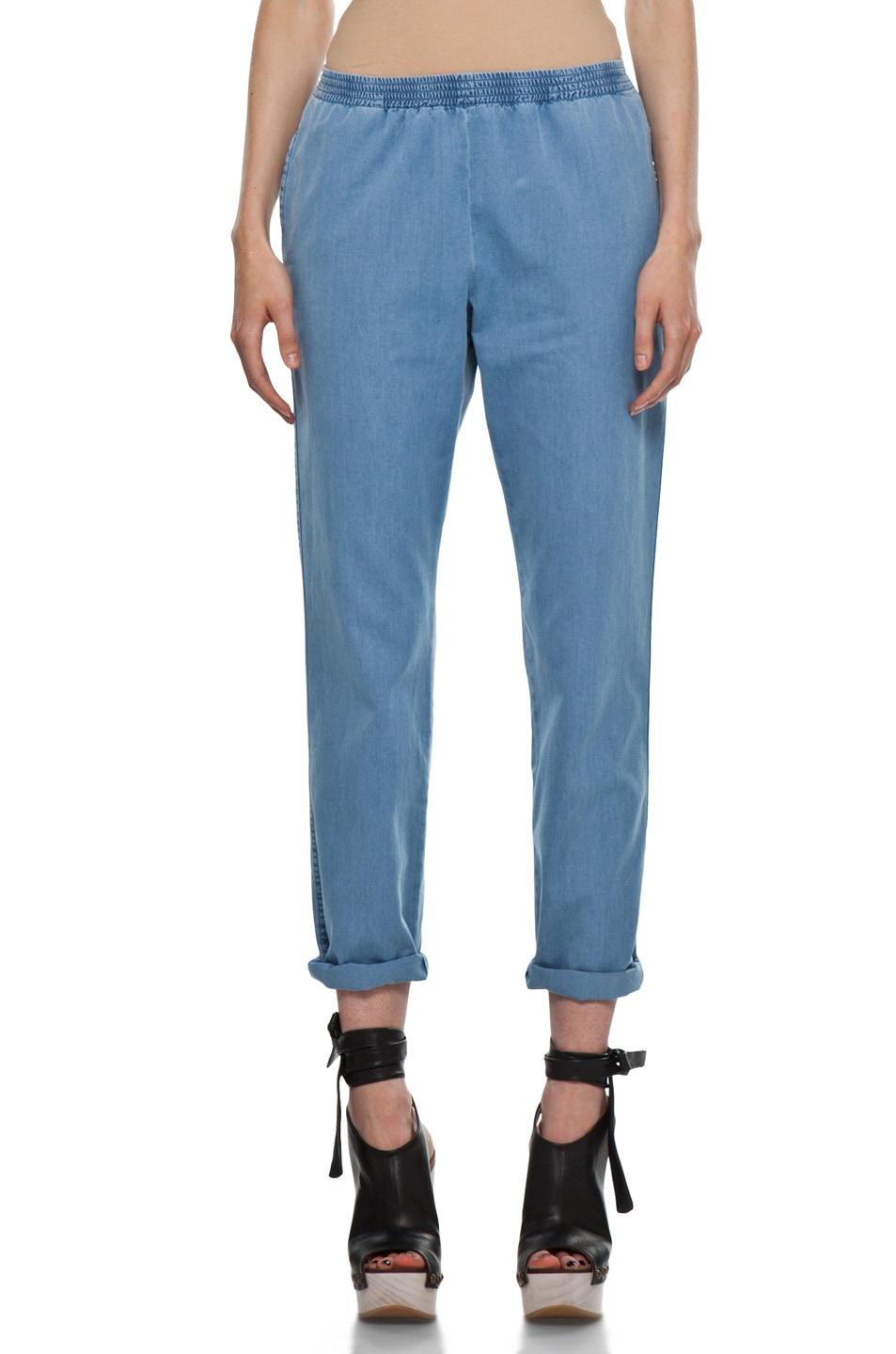 Image 1 of A.P.C. Elastic Waist Pant in Blue Grey