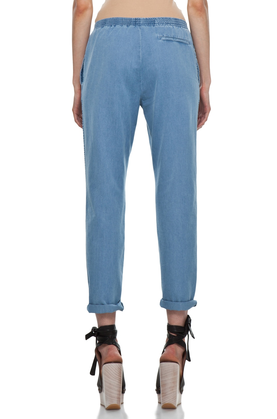Image 4 of A.P.C. Elastic Waist Pant in Blue Grey