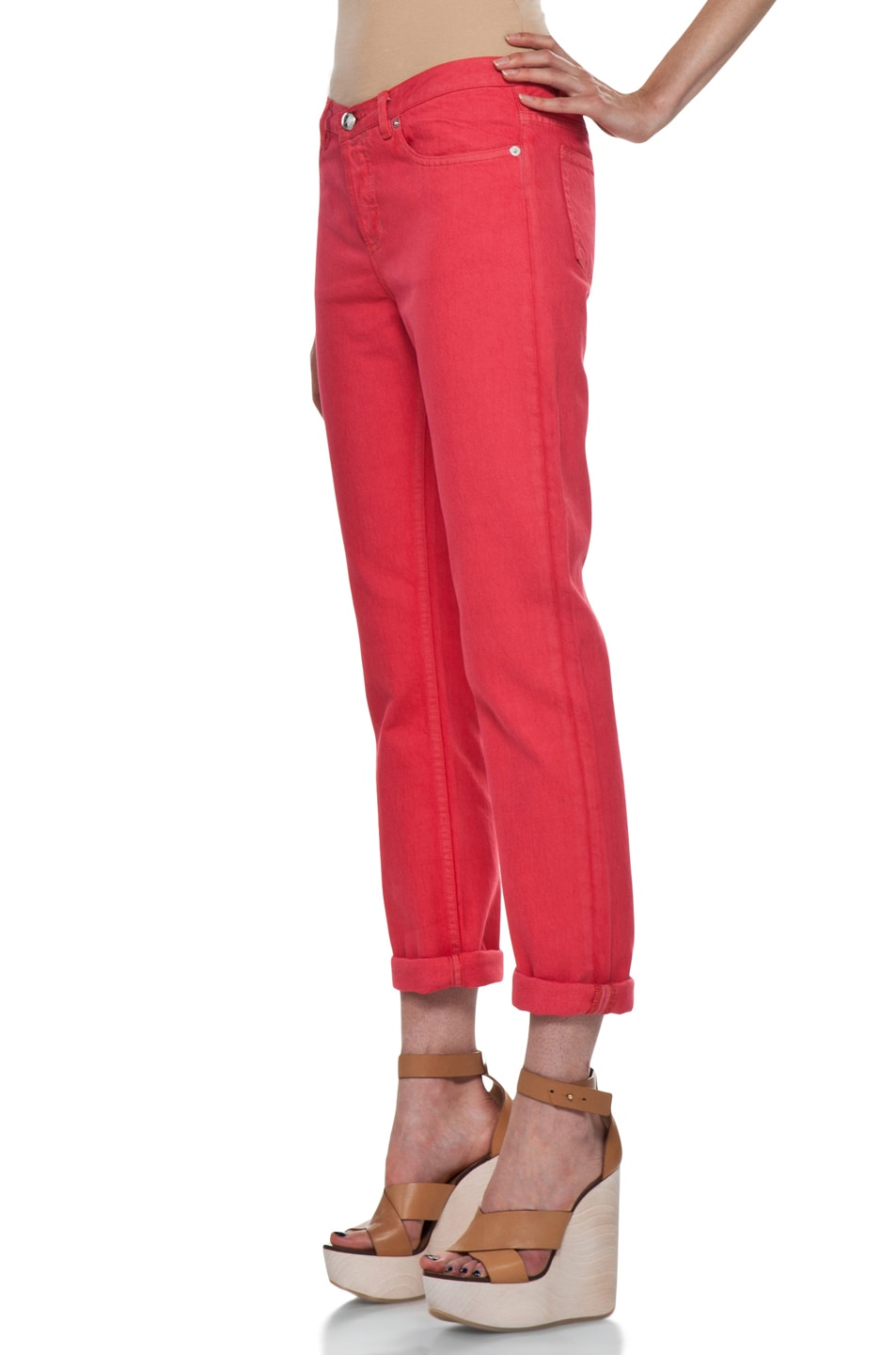 Image 2 of A.P.C. New Court Jean in Rouge