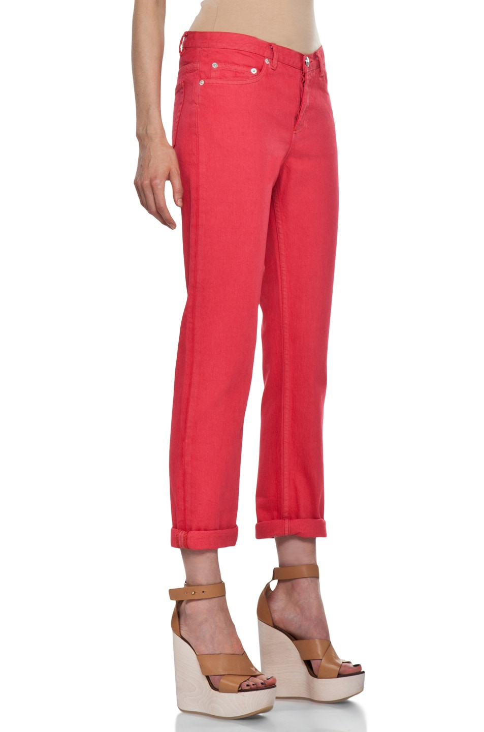 Image 3 of A.P.C. New Court Jean in Rouge
