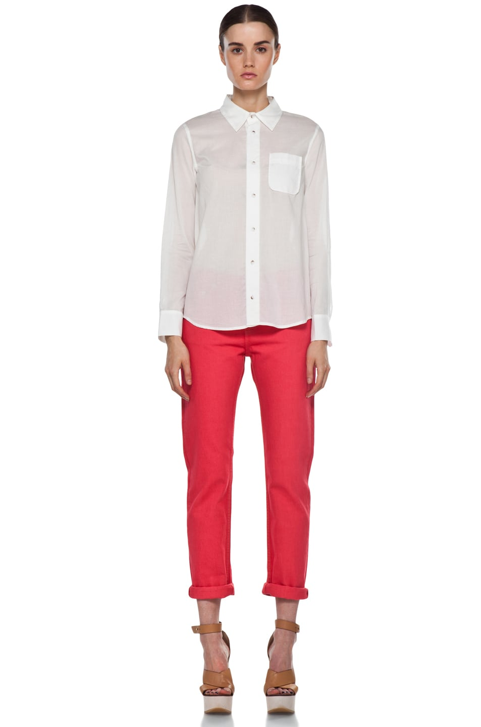 Image 5 of A.P.C. New Court Jean in Rouge