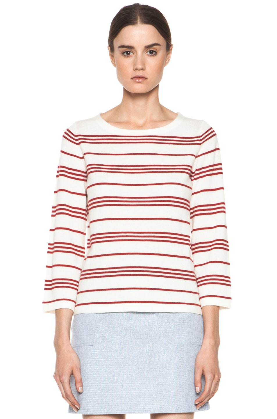 Image 2 of A.P.C. Marine Retro Sweater in Rouge
