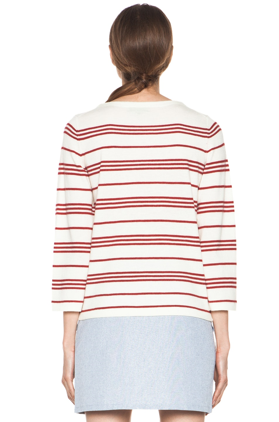 Image 5 of A.P.C. Marine Retro Sweater in Rouge