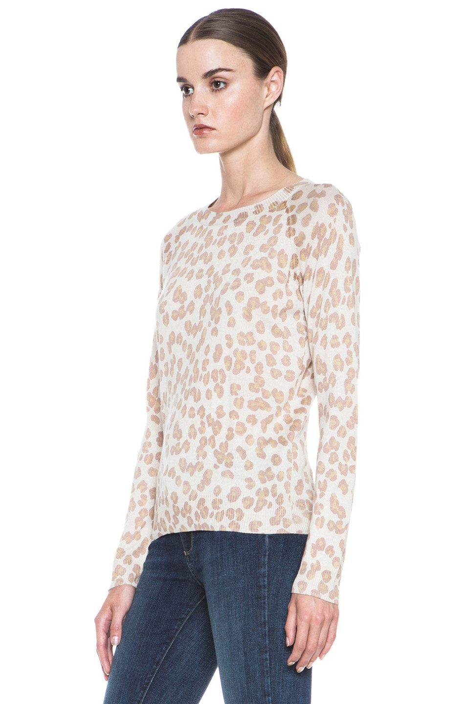 Image 2 of A.P.C. Cashmere Pullover Leopard in Beige