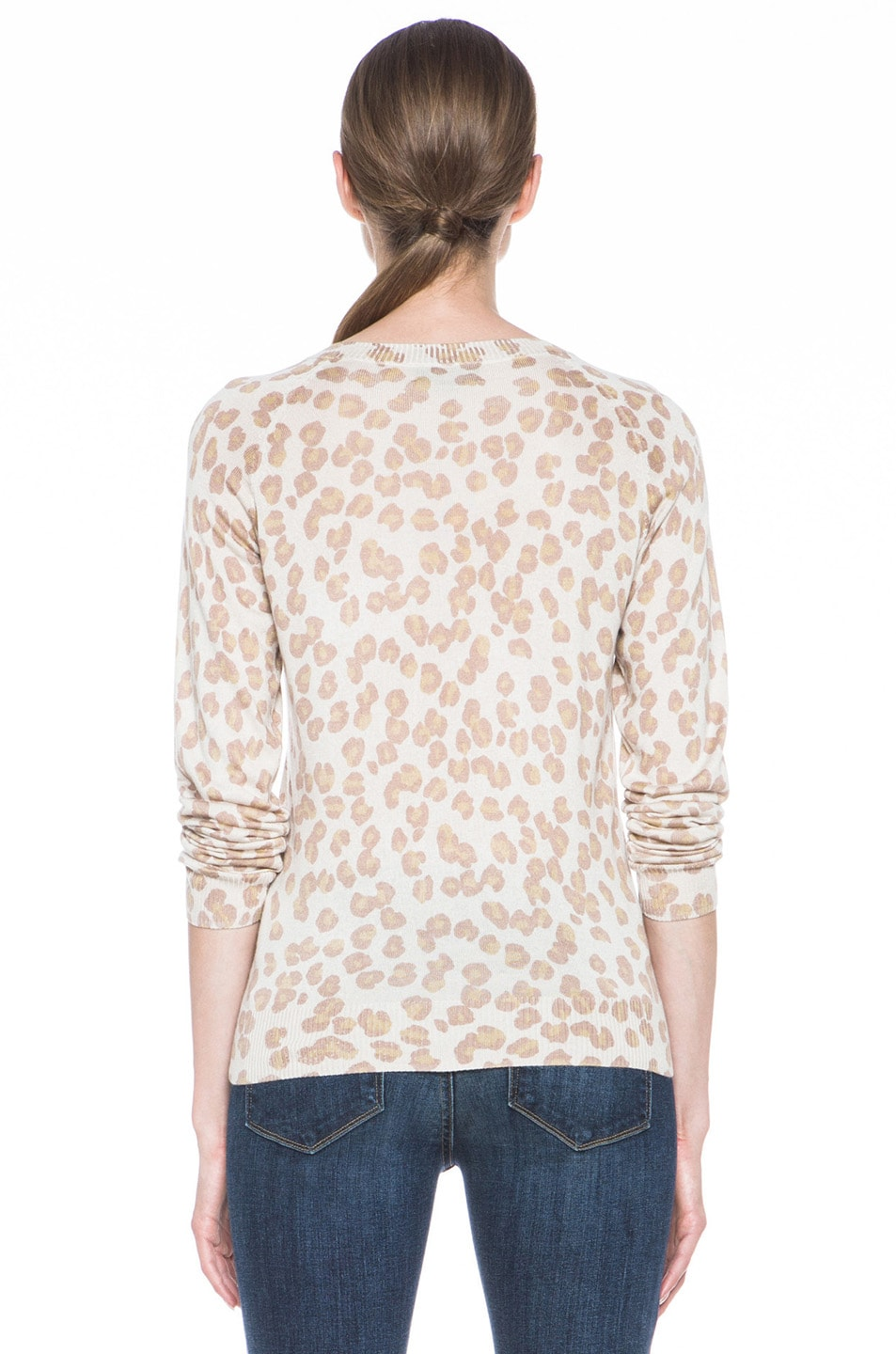 Image 4 of A.P.C. Cashmere Pullover Leopard in Beige