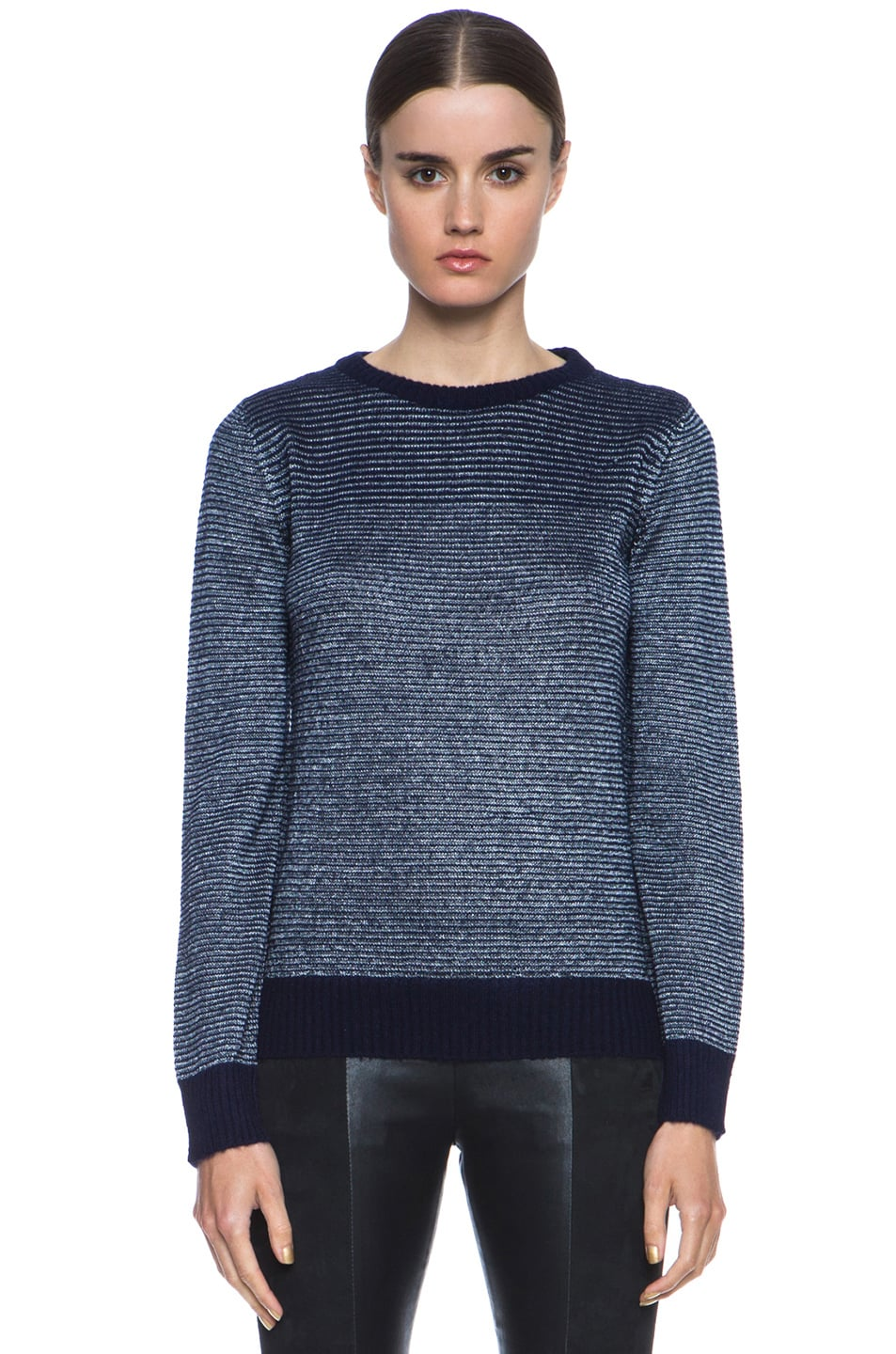 Image 1 of A.P.C. Knit Pullover in Indigo