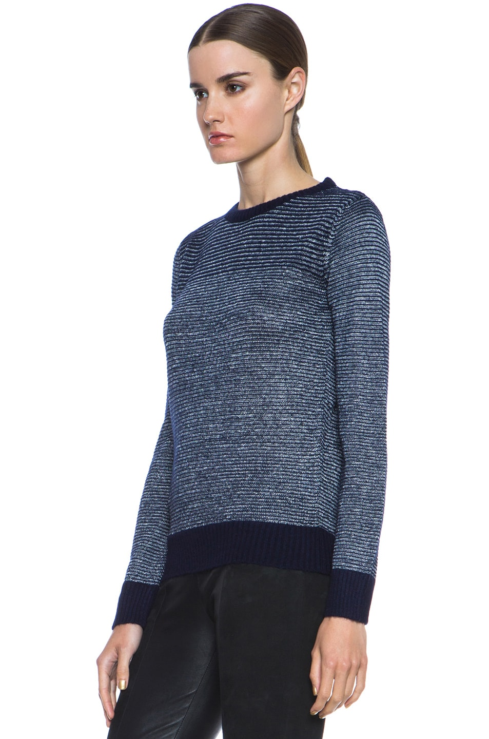 Image 2 of A.P.C. Knit Pullover in Indigo
