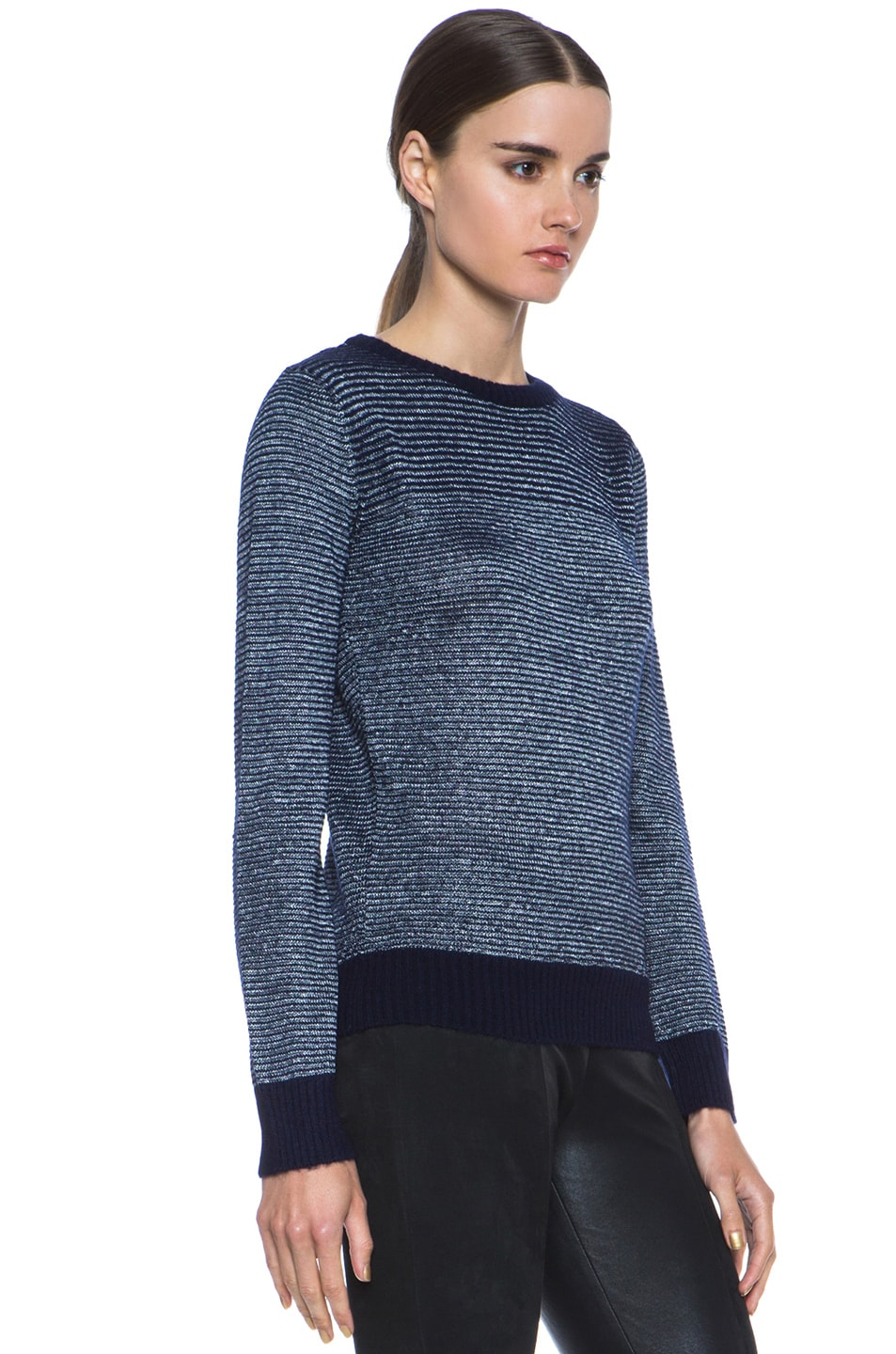 Image 3 of A.P.C. Knit Pullover in Indigo