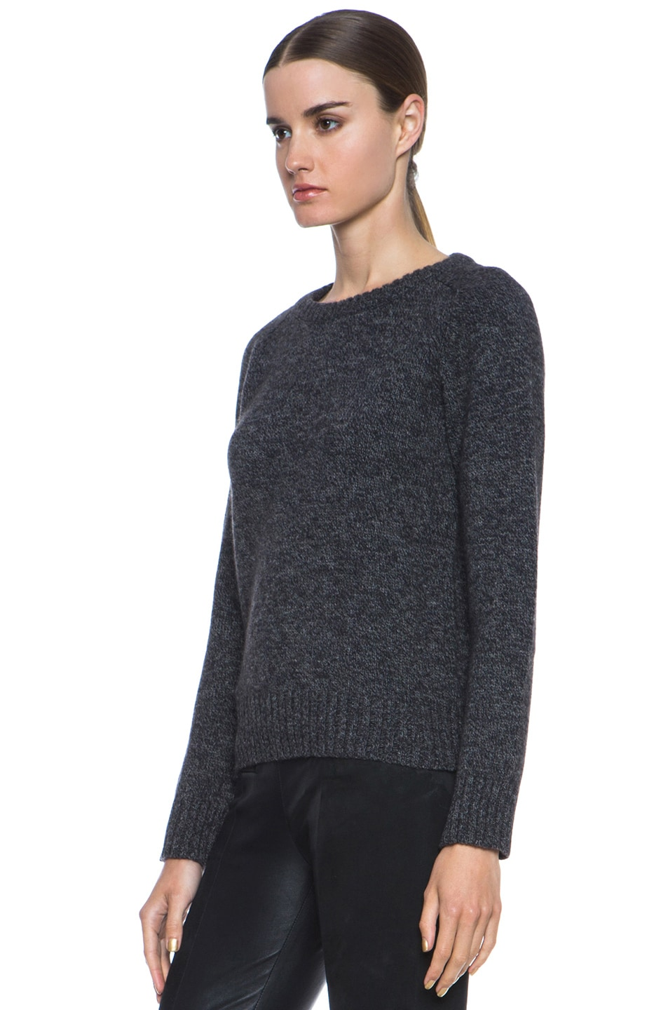 Image 2 of A.P.C. Merino Wool Pullover in Anthracite