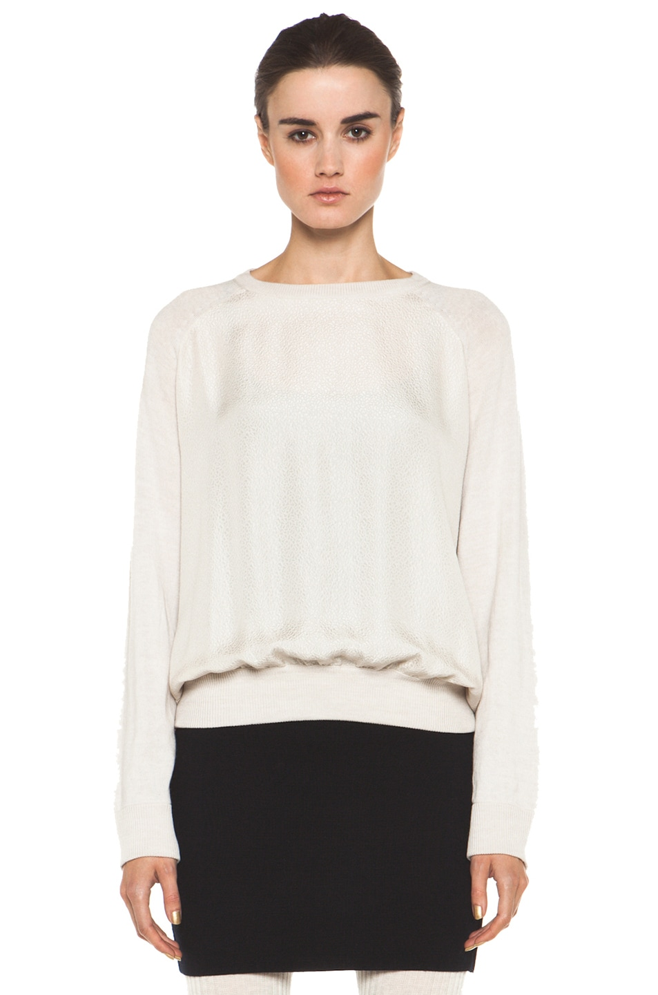 Image 1 of A.P.C. Pull Over Raglan Silk Combo in Ecru