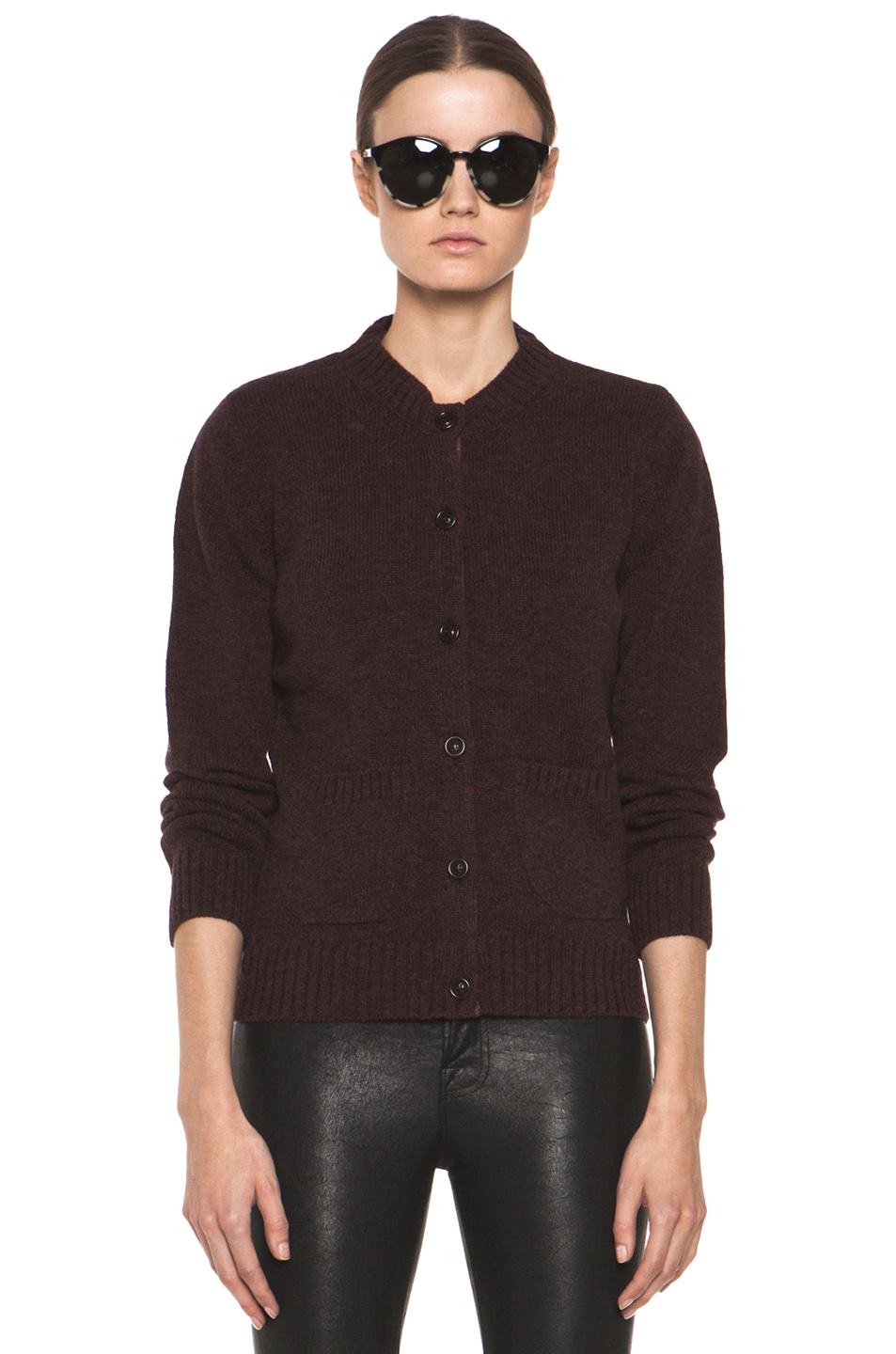 Image 2 of A.P.C. Cardigan in Bordeaux Chine