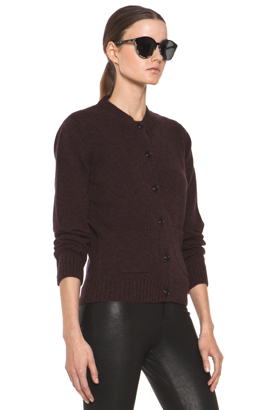 Image 4 of A.P.C. Cardigan in Bordeaux Chine