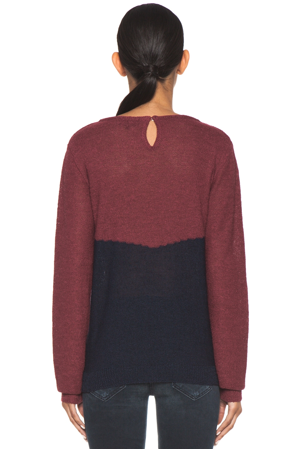 Image 4 of A.P.C. Colorblock Sweater in Framboise
