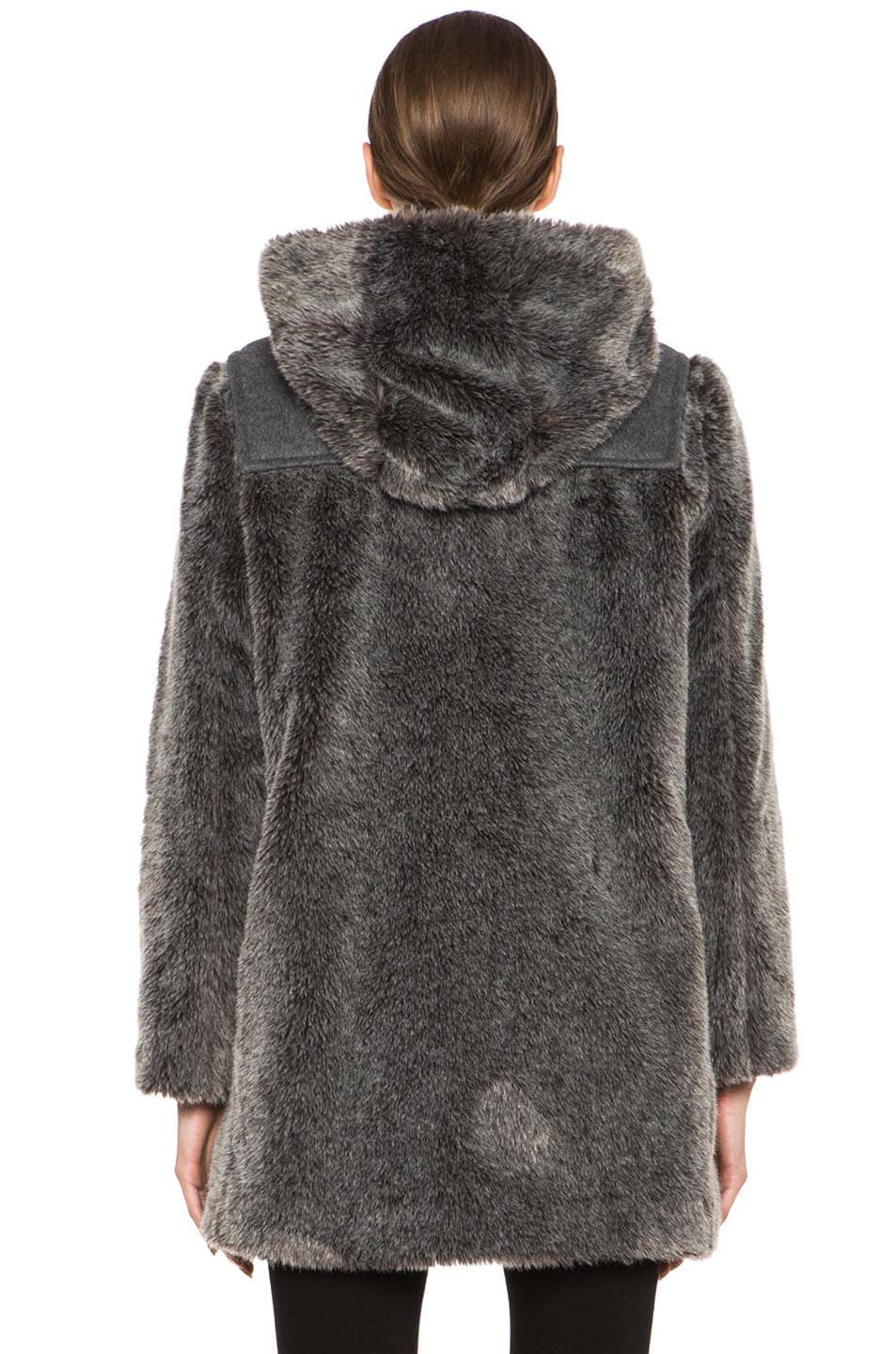 Image 5 of A.P.C. Faux Fur Duffel Coat in Grey
