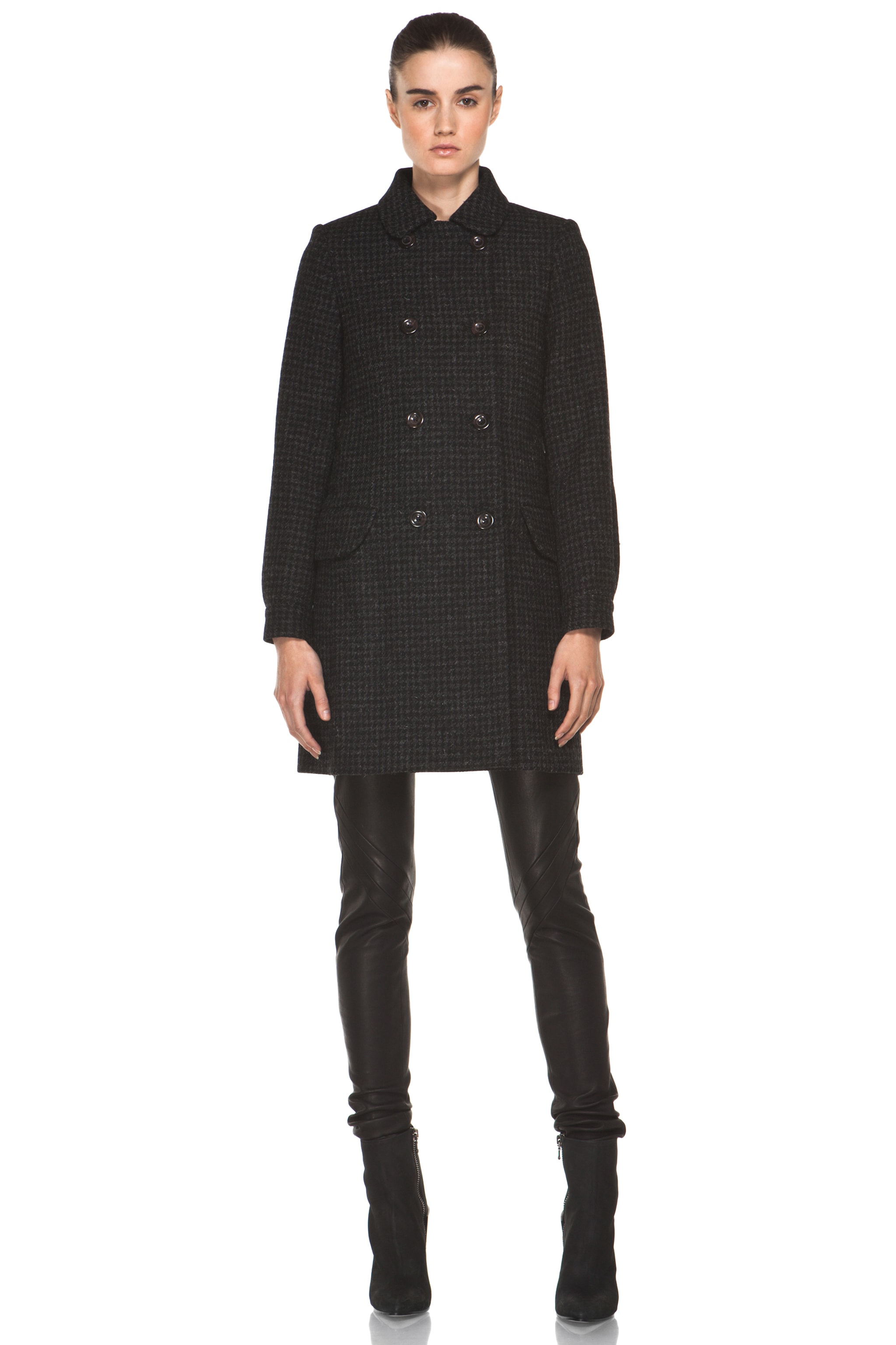Image 2 of A.P.C. Piel de Coq Fondu Coat in Anthracite