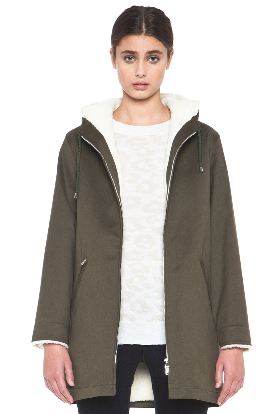 Image 1 of A.P.C. Parka in Military Khaki