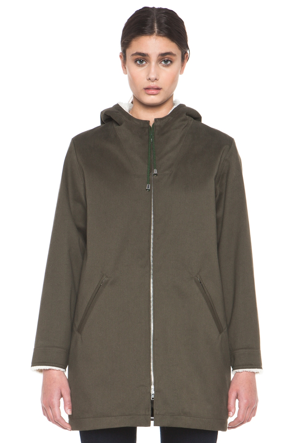 Image 2 of A.P.C. Parka in Military Khaki