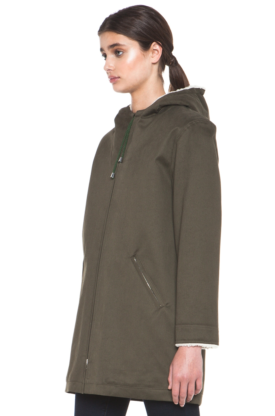 Image 3 of A.P.C. Parka in Military Khaki