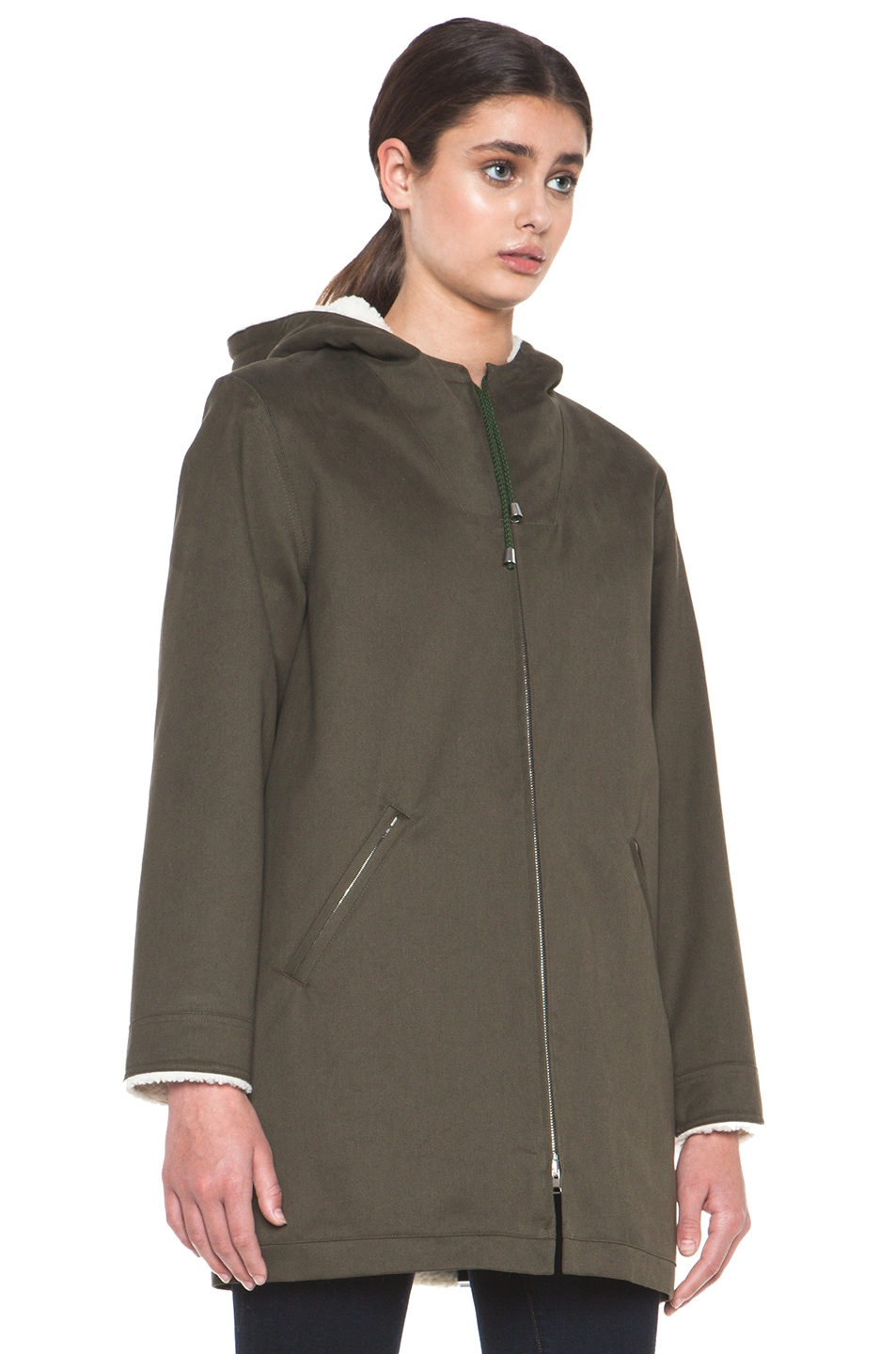 Image 4 of A.P.C. Parka in Military Khaki